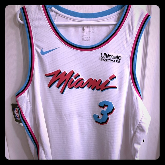 the latest 65b3e 970f5 Dwyane Wade Miami HEAT Vice City Jersey XXL/2XL NWT